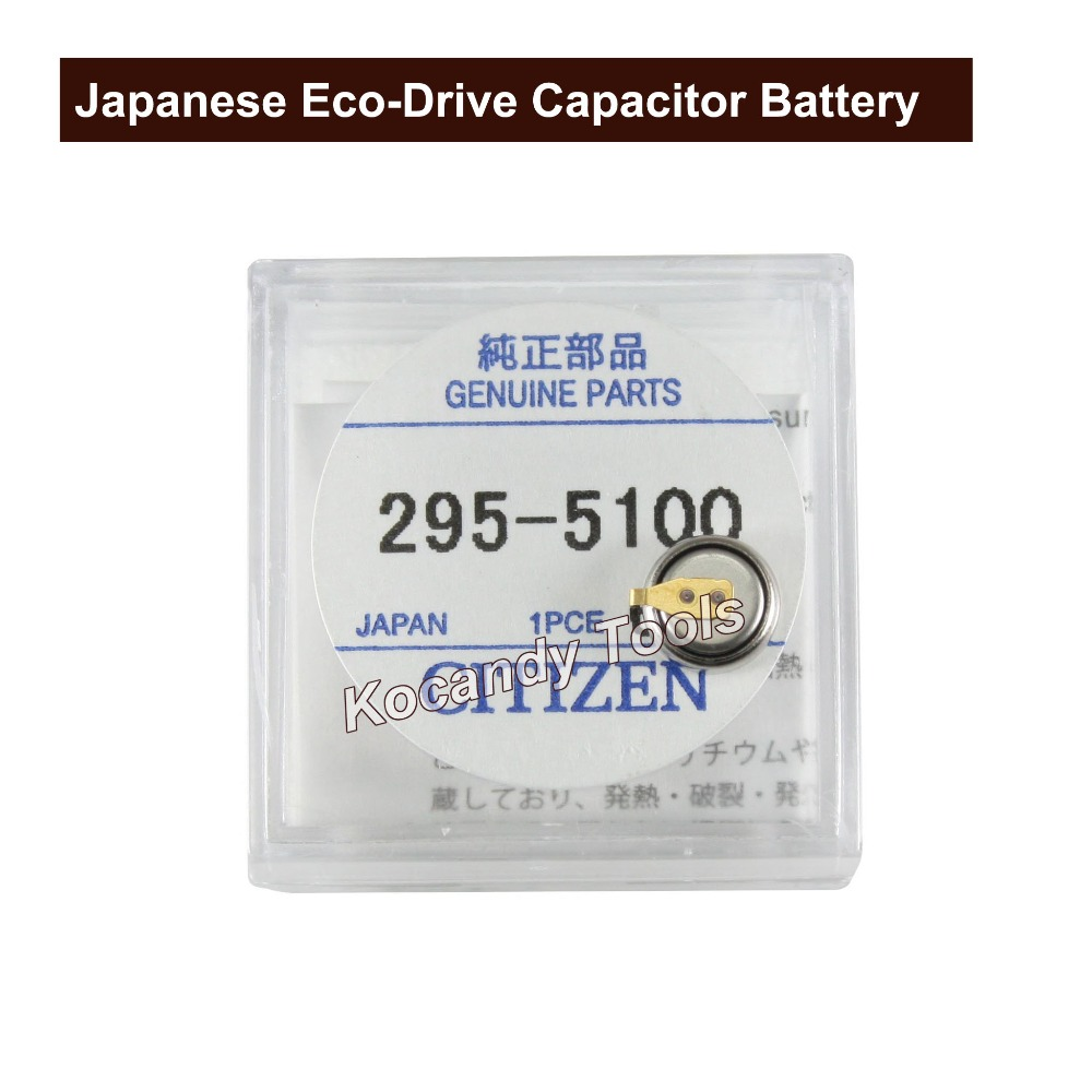 Watch Battery For Citizen Watch Eco-Drive 295-5100 For B110M, B117M, E000M E010M Button Cell