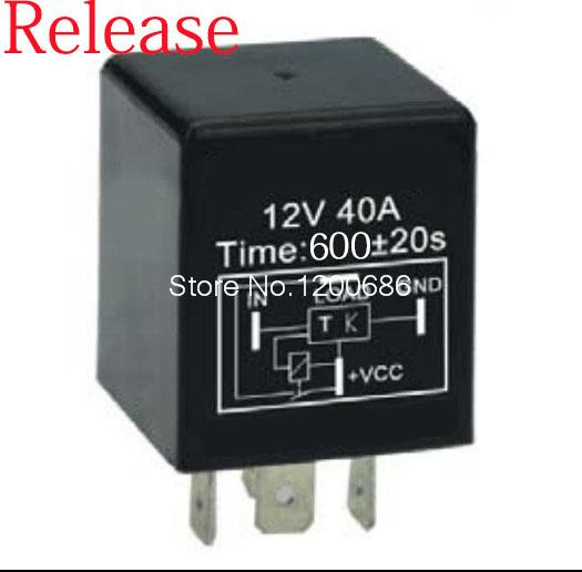 10 minutes delay relay Automotive 12V Time Delay Relay SPDT 600 second delay release off relay 2015 new arrival 12v 12volt 40a auto automotive relay socket 40 amp relay