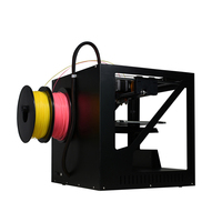 Double extruder 3D Technology printer colors nozzle Metal Frame 3d printer with Heated Bed Linear rail High Quality Precision