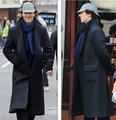 Sherlock Holmes Cape Coat Costume jacket Cosplay Wool coat cloak custom size