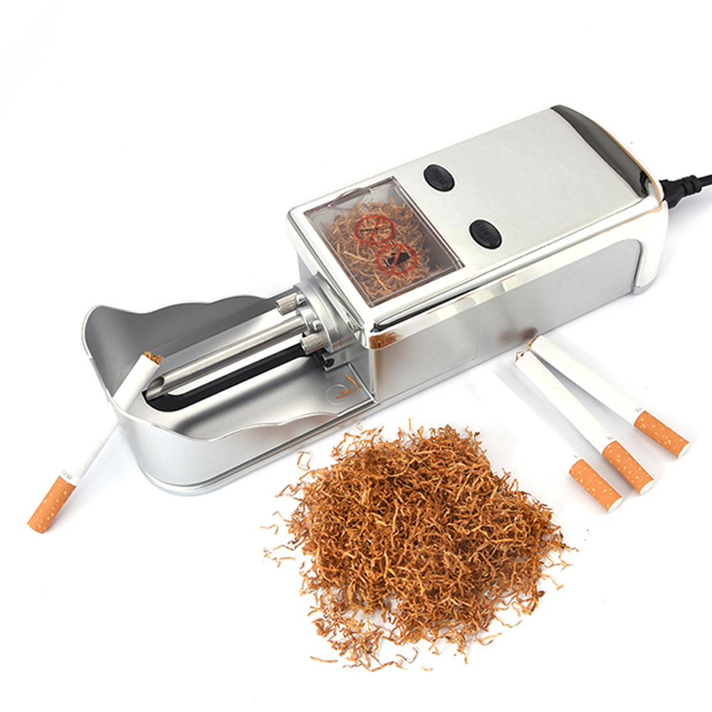 Drop Shipping Electric Automatic Cigarette Rolling Machine Automatic DIY Tobacco Roller Maker Machine 8mm Cigarette Tube EU Plug