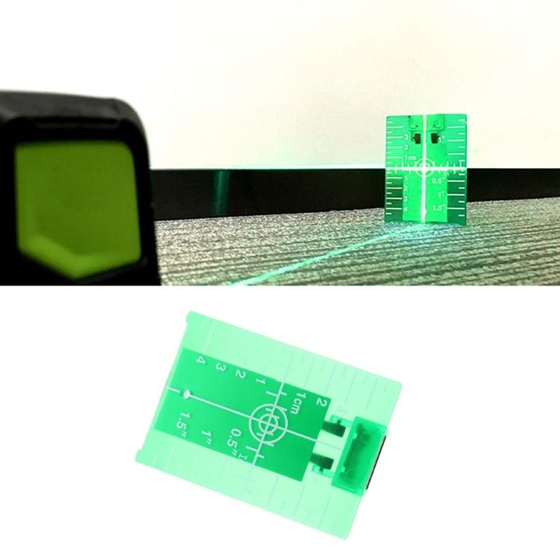 Magnetische Grün Ziel Platte Für Rotary Kreuz Linie Laser Ebene Abstand Vermesser