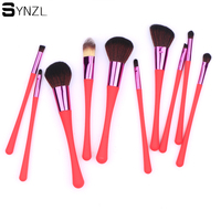 2014 New Professional Purple Black Green Red 7 Pcs Makeup Brush Tools Make Up Brushes Cosmetic
