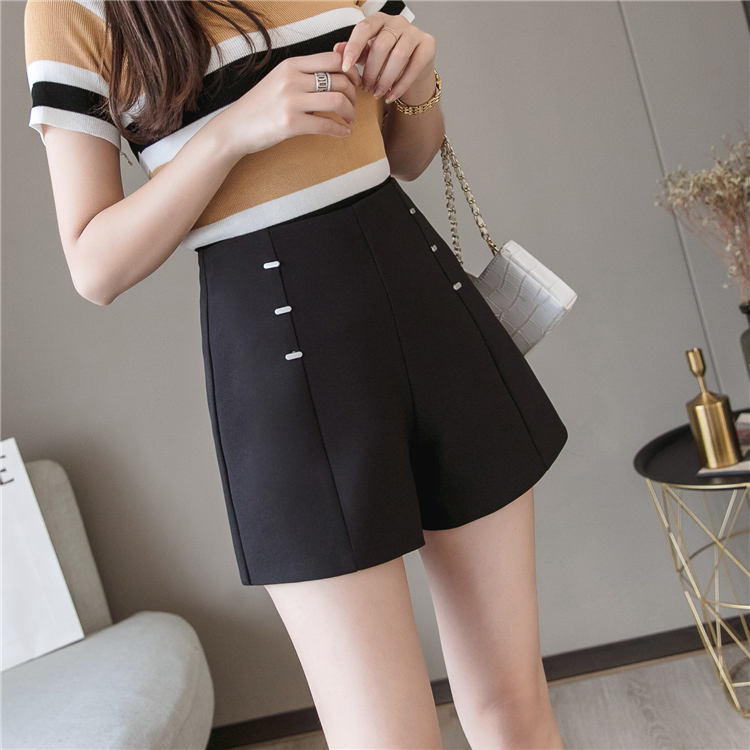 Summer Shorts For Women 2019 High Waist Casual Wide Leg Shorts Loose OL work Wear Solid Shorts 9