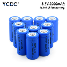 2/4/6/8/10Pcs 16340 Battery 3.7V 2000mAh Lithium Rechargeable Li-ion Cell For CR123A, CR17345, K123A, VL123A, DL123A, 5018LC