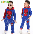 Sotida Clothing sets 2016New fashion active Kids Clothes Spiderman sports Boys Girls clothing sets Tracksuits Kids Clothing sets