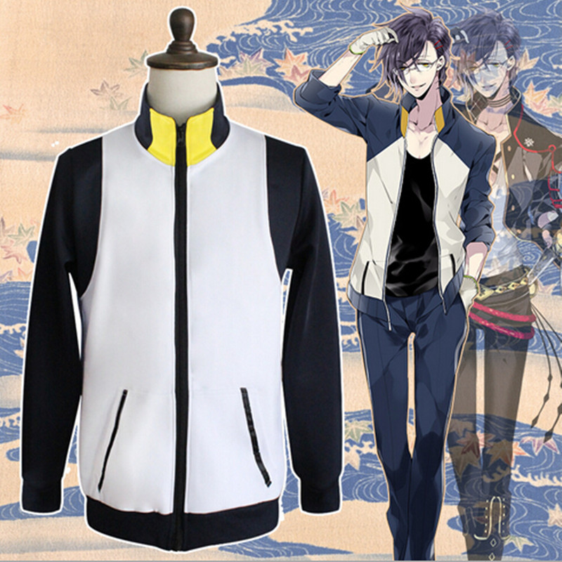 2018 Hot Sell Touken Ranbu Online Halloween Costume For Men High Quality Daily Winter Cute Anime Hoodies Unisex Jacket XH034