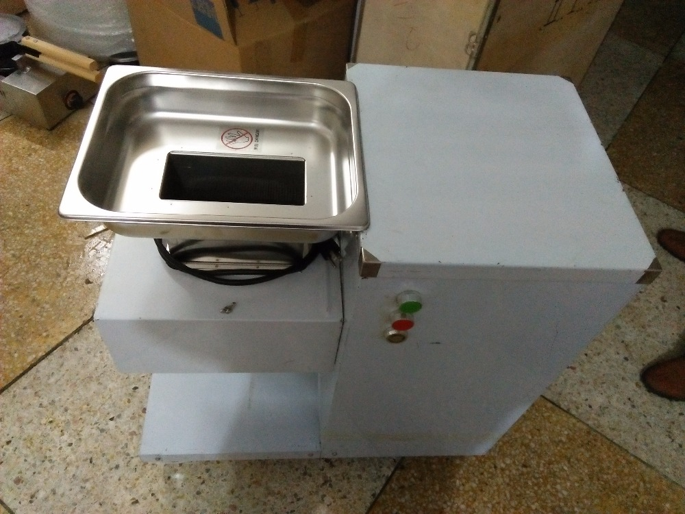 Come with 3 blades QW model meat cutting machine 800kg /hr /meat cutter/ meat slicer