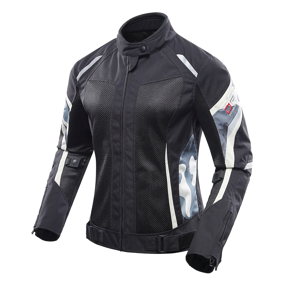 Image 2 - DUHAN Women Motorcycle Jacket Summer Breathable Mesh Moto Jacket Protective Gear Motorcycle Suit Motorbike Clothing Set Black-in Jackets from Automobiles & Motorcycles