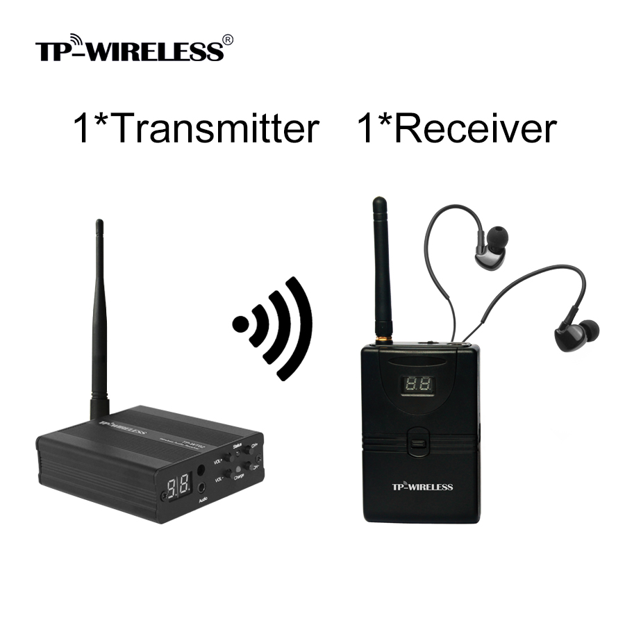 TP wireless In Ear Monitor System 2 4GHz Professional Digital Stage Audio Stage music Ear return