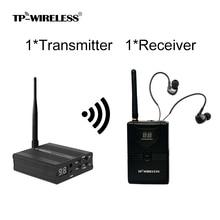 TP sem fio In Ear Stage System Monitor de 2.4 ghz Digital Profissional Estágio de Áudio Ouvido música de devolver o equipamento Em Monitor de Ouvido fase