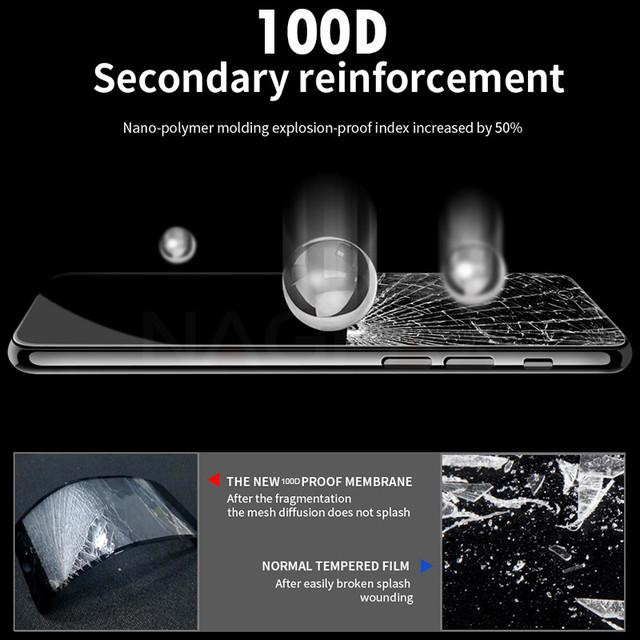 100D Curved Edge Full Cover Protective Glass On The For iPhone 7 8 6 6S Plus Tempered Screen Protector iPhone X XR XS Max Glass 1