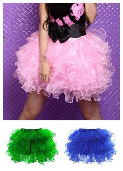 doprava zdarma nová sexy roztomilá petticoat tyl tiered tutu mini sukně 7 barev S / M L / XL petticoat sukně skladem