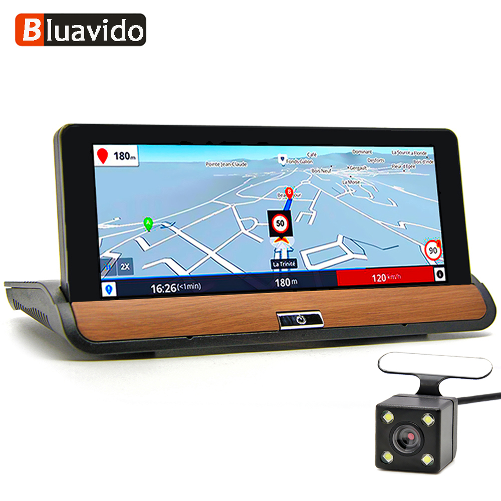 Bluavido 6.86 IPS 3G Android Dash Camera FHD 1080P Car DVR GPS Navigation Bluetooth Dual Lens Car Video Recorder Remote monitor image