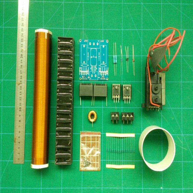 Kit de bobine Tesla, technologie de bricolage, Transmission sans fil, éclairage, dessin à l'arc, pulvérisation à l'arc