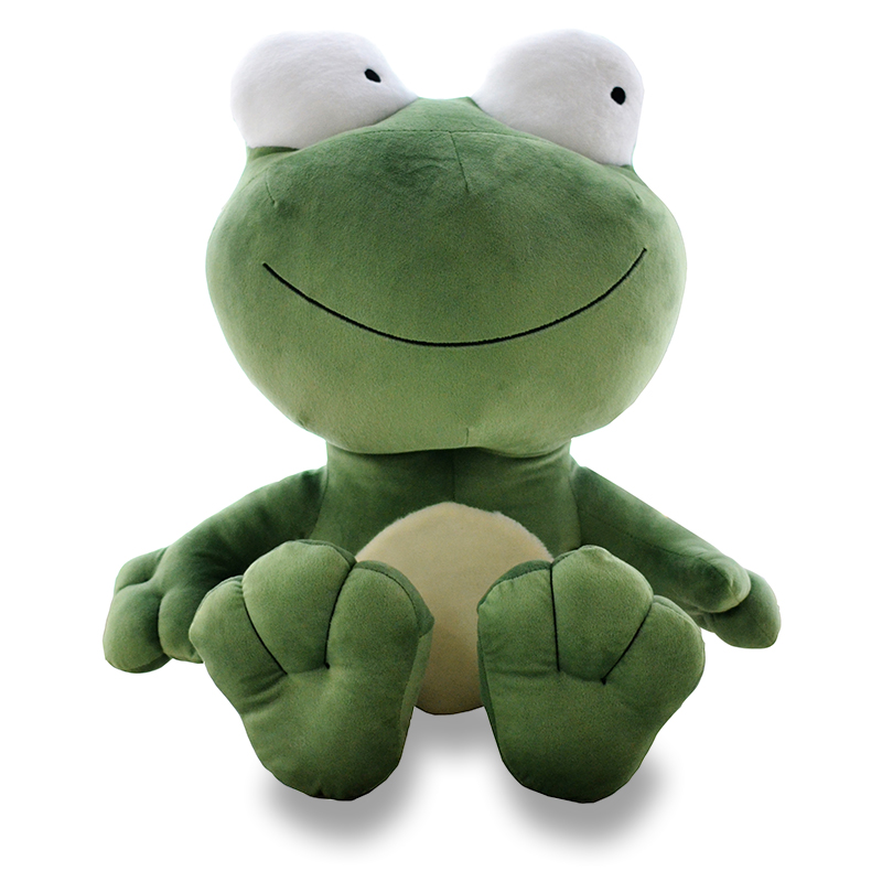 new creative plush frog toy lovely  big eyes green frog doll about 70cm