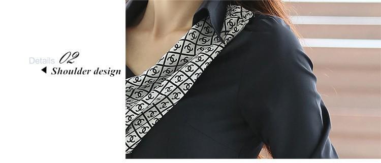 HTB1Dy1xJpXXXXb8XXXXq6xXFXXXJ - Women's shirt slim formal scarf collar long-sleeve blouses
