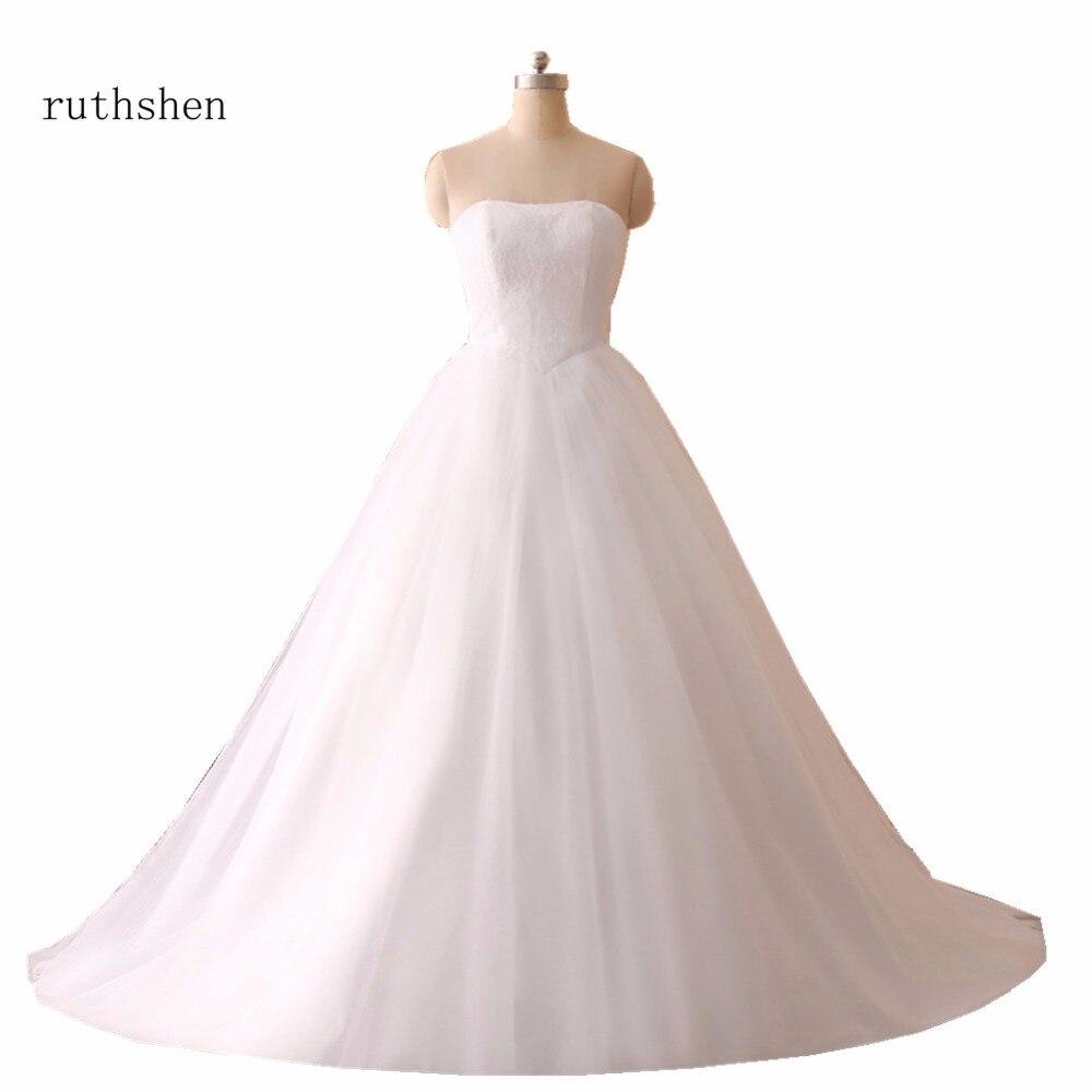 Simple Elegant Lace Wedding Dresses Naf Dresses: Ruthshen Simple White Ivory Wedding Dresses Cheap 2018 New