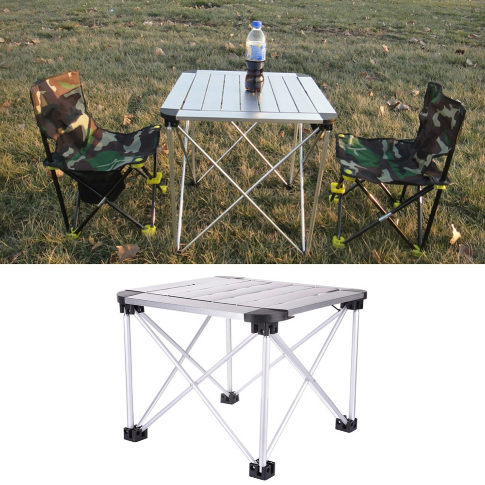 High Quality Square Folding Camping Table Portable Foldable Table Desk Camping Outdoor Picnic Aluminium Alloy Ultra-light jfbl 2x 1 8m 6ft aluminum portable folding camping picnic party dining table