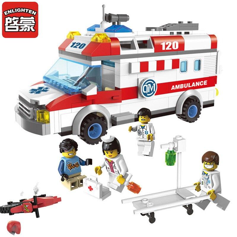 328 Pcs Enlighten Block City Series DIY Bricks Truck Building Block Set Compatible With Lepined Toys Gifts For Children Kids дверь цельно металлическая дцм медный антик медный антик 880х2050