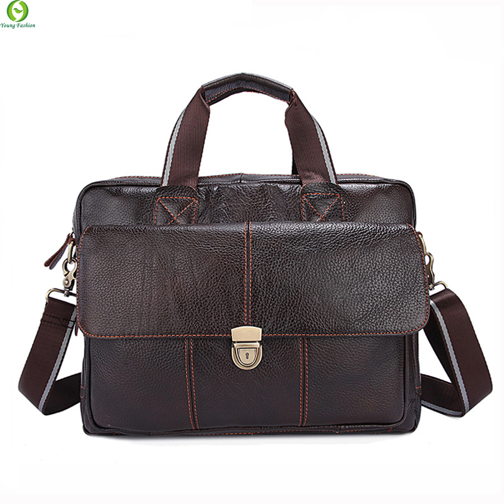 100% Genuine Leather Men Bags Hot Sale Man Messenger Bag Cowhide Leather Mens Briefcase Male Crossbody Shoulder Fashion Handbag