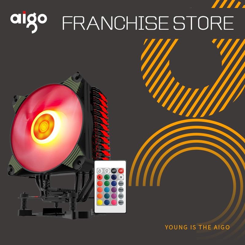 Aigo ICY K4 CPU kühler TDP 300 watt 4 heatpipes 4pin PWM RGB 120mm lüfter Kühler für LGA 2011 /1151/1155/1156/775/1366/AM2 +/AM3 +/AM4