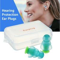 Safurance 1 пара шумоподавление Защита слуха беруши для концертов музыкант мотоциклы многоразовые силиконовые беруши