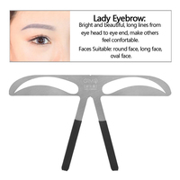 Eyebrow Shape Stencil Permanent Makeup Tattoo Kit Supply Diy Template Ruler Reusable Beauty Cosmetic Tools For Makeup Beginners