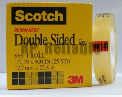 10x 3M Scotch 665 Permanent Clear Double Sided Tape 1/2 *900 IN, 25 YD, 12.7mm*22.8M for Office OA, Film Artwork, PCB Print