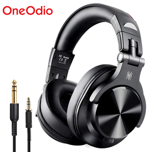 Image 1 - OneOdio Fusion Bluetooth5.0 за ухо стерео наушники проводные/Беспроводной профессиональные студийные наушники для ди Джея с мотор наушники для записи