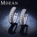 MDEAN pendientes de aro de oro blanco diamante de LA CZ de la vendimia accesorios de moda Pendientes de Compromiso joyería para las mujeres bague MSE018