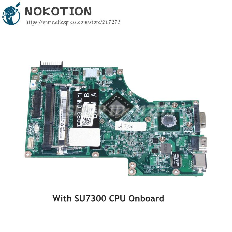 NOKOTION Laptop Motherboard For Dell inspiron 1570 1470 MAIN BOARD CN-069RRF 069RRF SU7300 CPU onboard DDR3 nokotion laptop motherboard for dell vostro 3500 cn 0w79x4 0w79x4 w79x4 main board hm57 ddr3 geforce gt310m discrete graphics