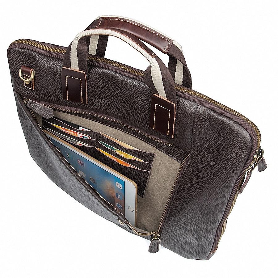 Tote Taschen Mode Aktentaschen Li 2081 Männlichen Männer Coffee Schulter business Crossbody Leder Portfolio Laptop Echtes Handtaschen XUwqEBPxqn