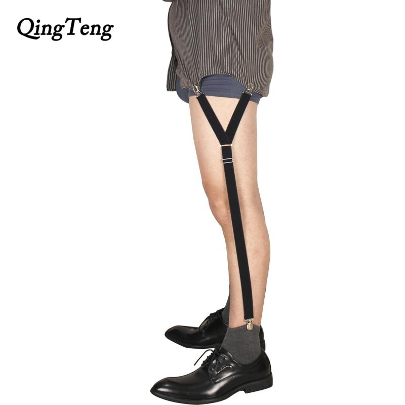 620754c2e8575 Las mujeres de los hombres camisa tirantes queda Caballero pierna soportes para  camisas de tirantes camisa de Nylon se queda para caballero camisa titular  ...