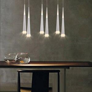 Image 2 - Led Pendentif Lampe dimmable lampes Suspendues Îlot De Cuisine Salle À Manger Boutique Comptoir de Bar Décoration Cylindre Tuyau Cuisine Lumières