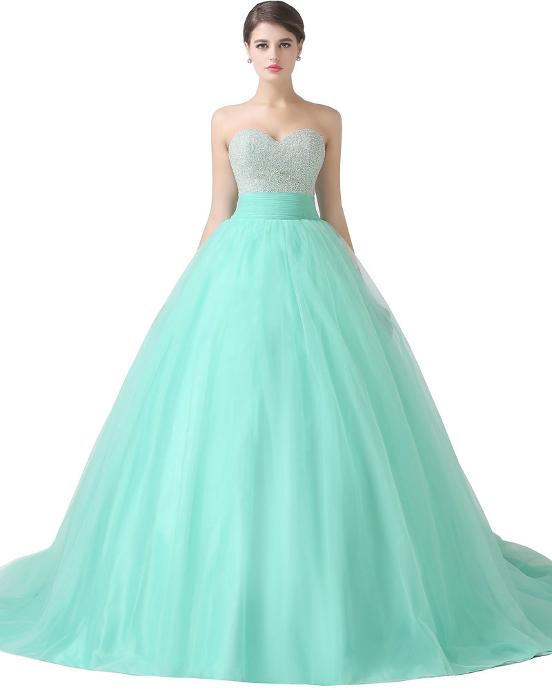 REAL MODEL Mint Green Quinceanera Dresses Ball Gown 2017 Tulle ...
