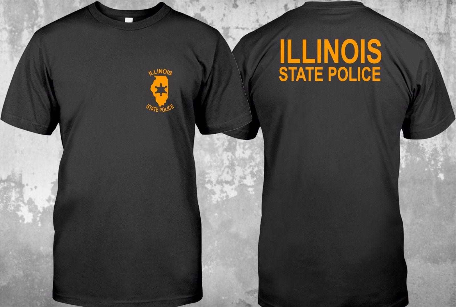 Hot sale Fashion NEW illinois police State Logo - Custom Mens T-Shirt TeeTee shirt ...