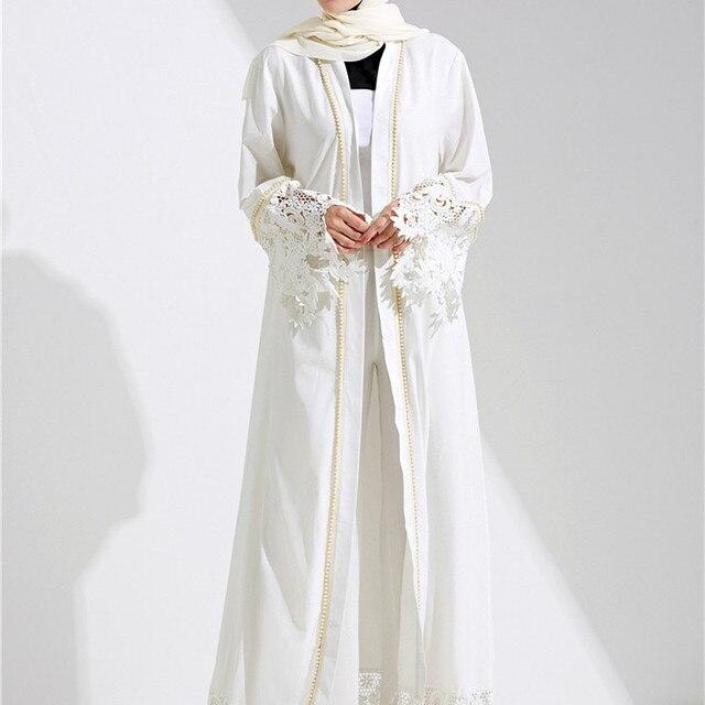 Online Shop Dubai Abaya Muslim Dress Solid Plus Size Robe Knitting ...