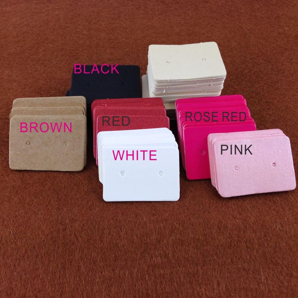 3.5*2.5cm 100 pçs/lote de papel adesivo de orelha, pendurar etiquetas, jóias, exibição de cartão, brinco de papel adesivo, etiqueta de orelha etiquetas de preço de pendurar anel de papel