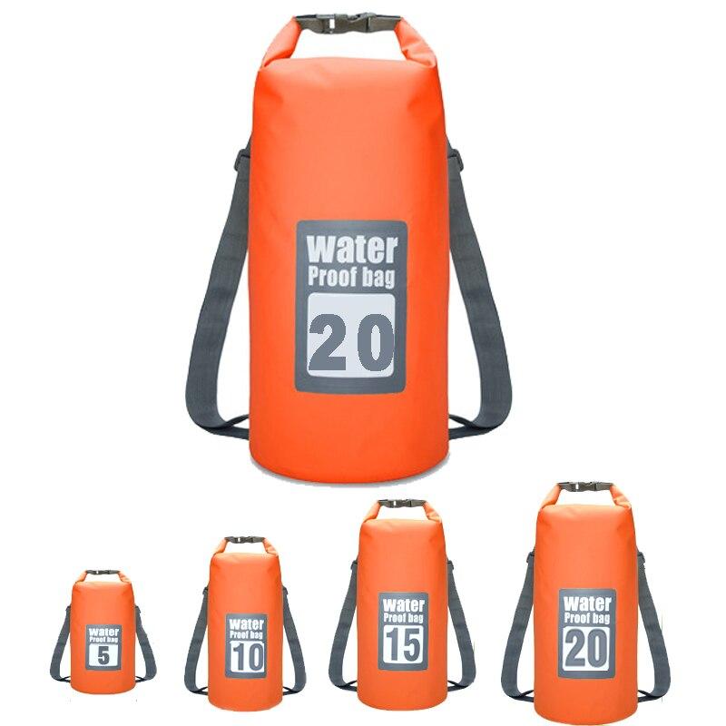 5L 10L 15L 20L Schwimmen Wasserdichte Taschen Lagerung Trocken Sack Tasche Für Kanu Kajak Rafting Outdoor Sport Taschen Reise Kit ausrüstung