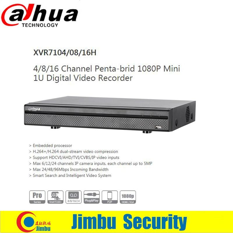 Dahua XVR Digital Video Recorder 4ch 8ch 16ch XVR7104H XVR7108H XVR7116H Support HDCVI/AHD/TVI/CVBS/IP video Smart Search dahua xvr video recorder xvr5408l xvr5416l xvr5432l 8ch 16ch 32ch 1080p support hdcvi ahd tvi cvbs ip video inputs
