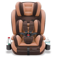 Child car safety seat with cup holder and isofix soft interface,1 12 years old,9 36KG, simple universal armchair