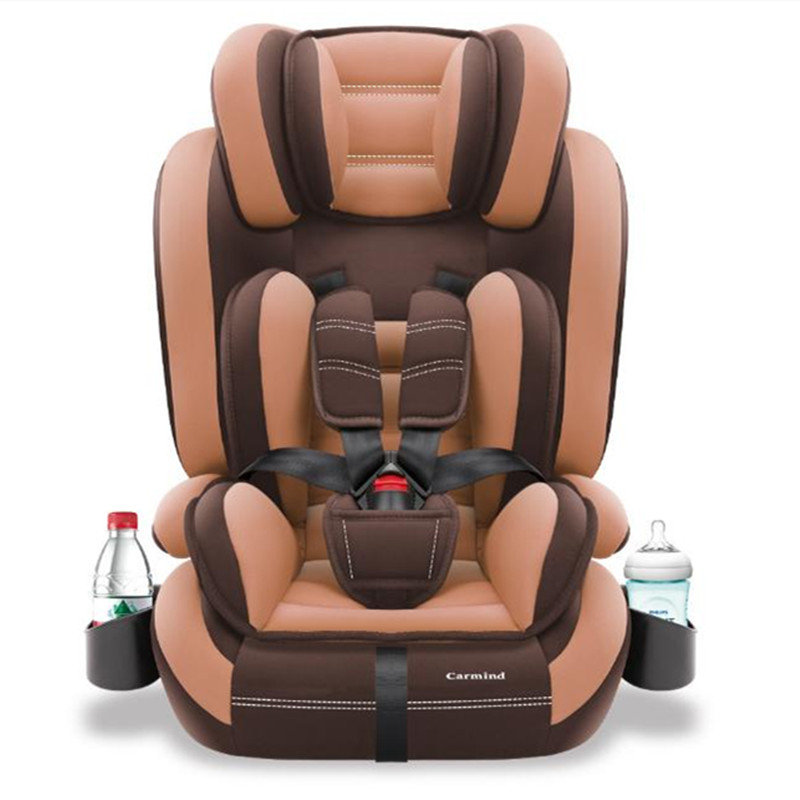 Child car safety seat with cup holder and isofix soft interface, 1 -12 years old,9-36KG, simple universal armchair arrivals 1 36kg