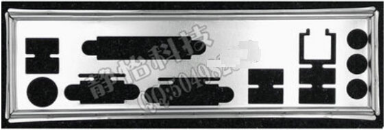 New I O shield back plate of motherboard for Gigabyte GA B75M D3V GA B85M D3V