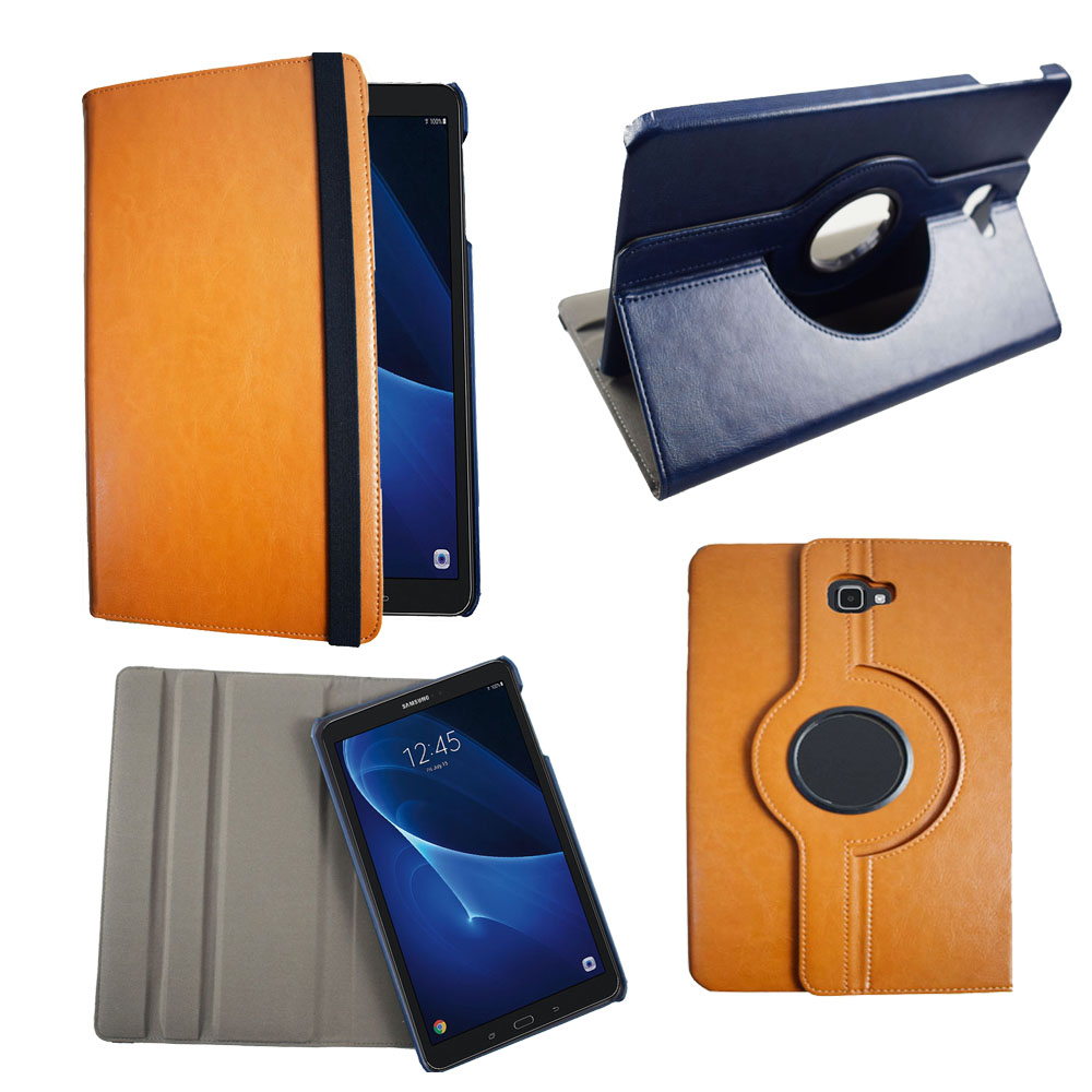 Multi-angle stand Cover Case For Samsung Galaxy Tab A A6 T580 T585 T587 tablet 360 Degree Rotating Flip pu leather Case Cover case cover for samsung galaxy tab a a6 10 1 p580 p585 10 1 inch tablet funda 360 degree rotating flip leather stand shell case