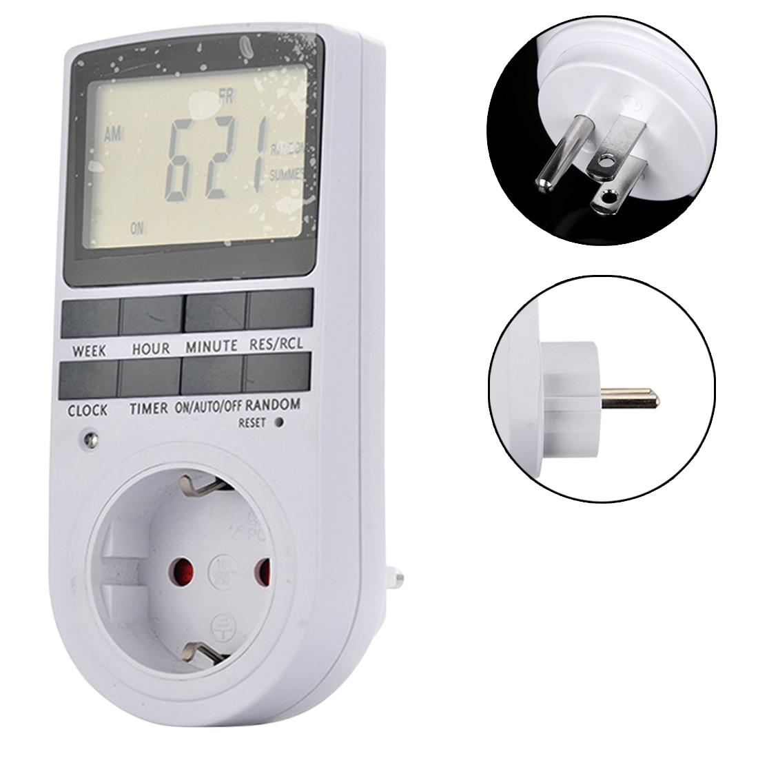 Electronic Digital Timer Switch EU/US Plug Kitchen Timer Outlet 230V 50HZ 7 Day 12/24 Hour Programmable Timing Socket цена