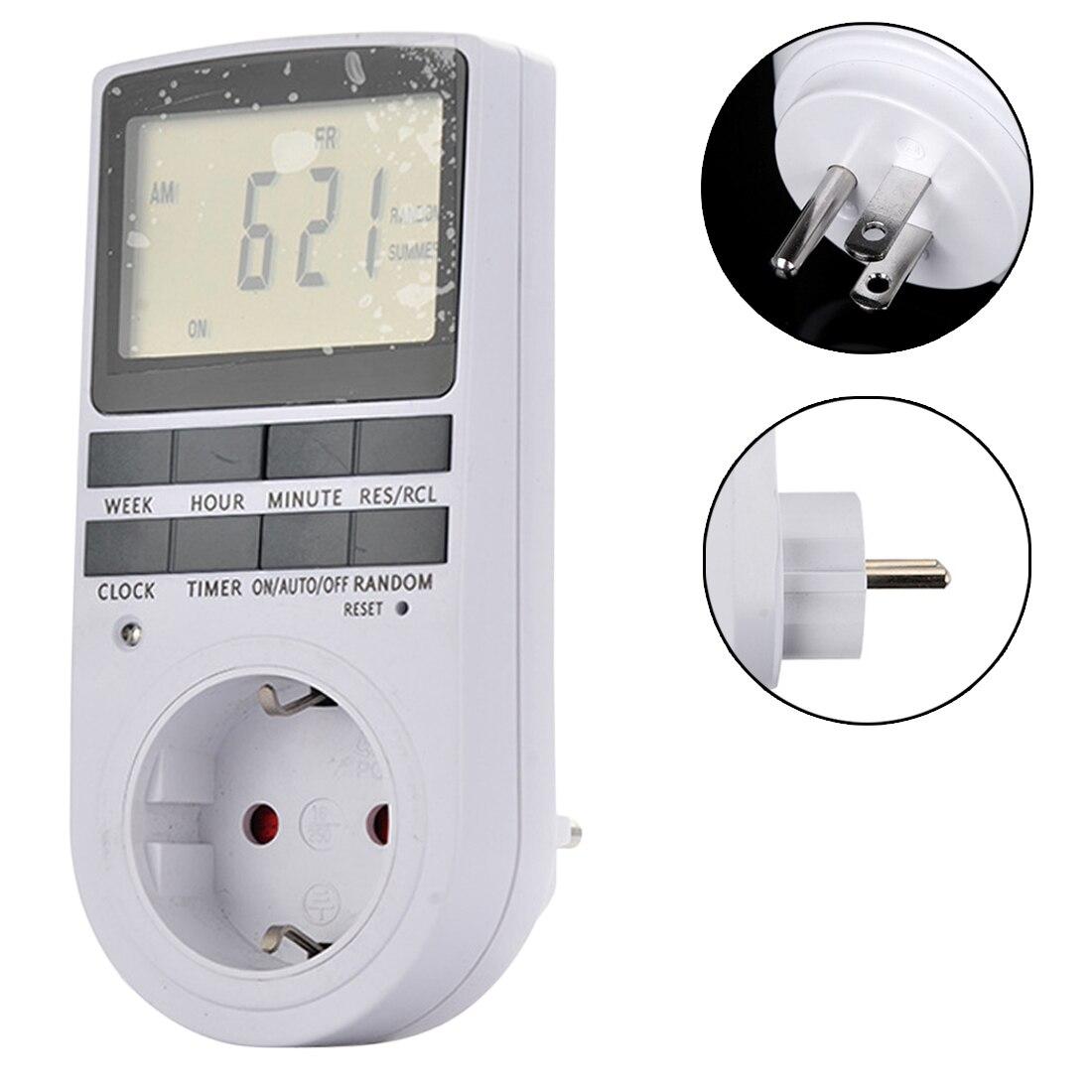 Elektronische Digitale Timer Schalter EU/Us-stecker Küche Timer Outlet 230 v 50 hz 7 Tag 12/24 Stunde Programmierbare timing Buchse