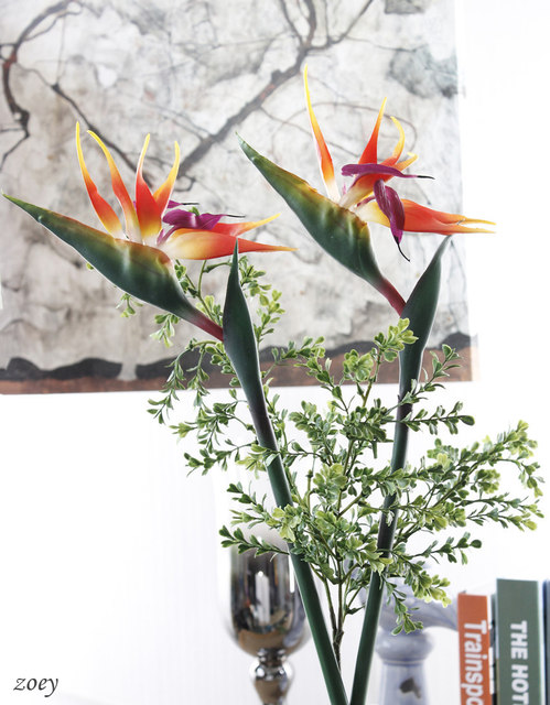 Online shop high quality 82cm artificial flowers pu bird paradise high quality 82cm artificial flowers pu bird paradise strelitzia reginae for wedding home party decoration mightylinksfo