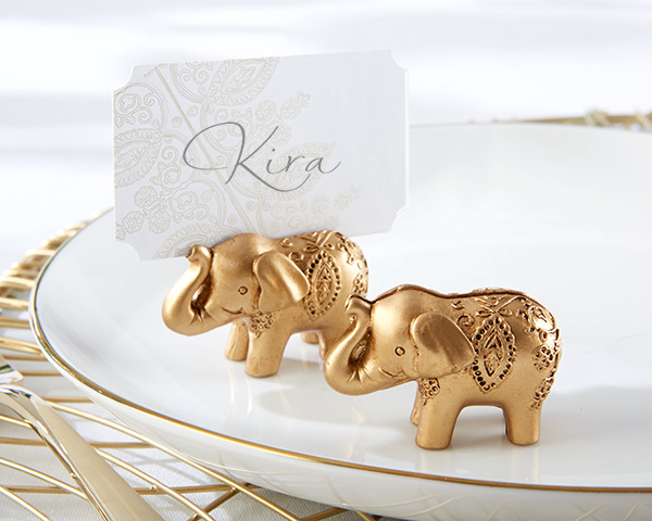 Factory Fast Delivery Wedding Favor Lucky Golden Elephant Place Card Holders Birthday Wedding Party Baby Shower Gift Wholesale image