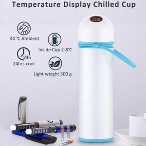 Dison Mini Fridge Cooler BagTem Display Cold Storage Box Container Freezer Insulin Cooler Cup Vaccine Storage Box